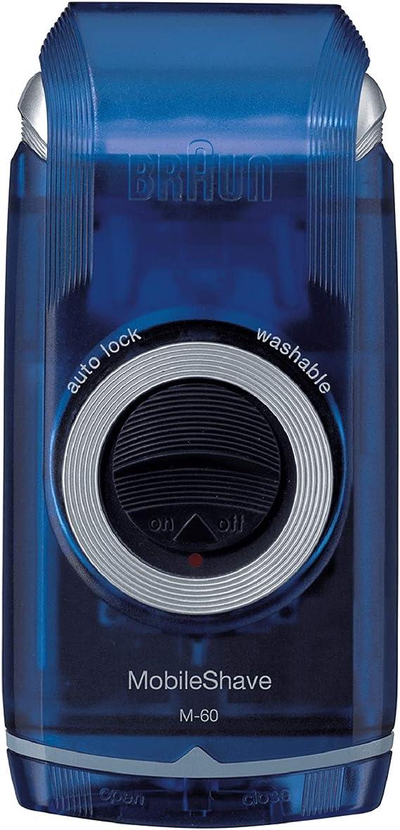 Braun PocketGo M60b MobileShave - Afeitadora eléctrica para hombre ...