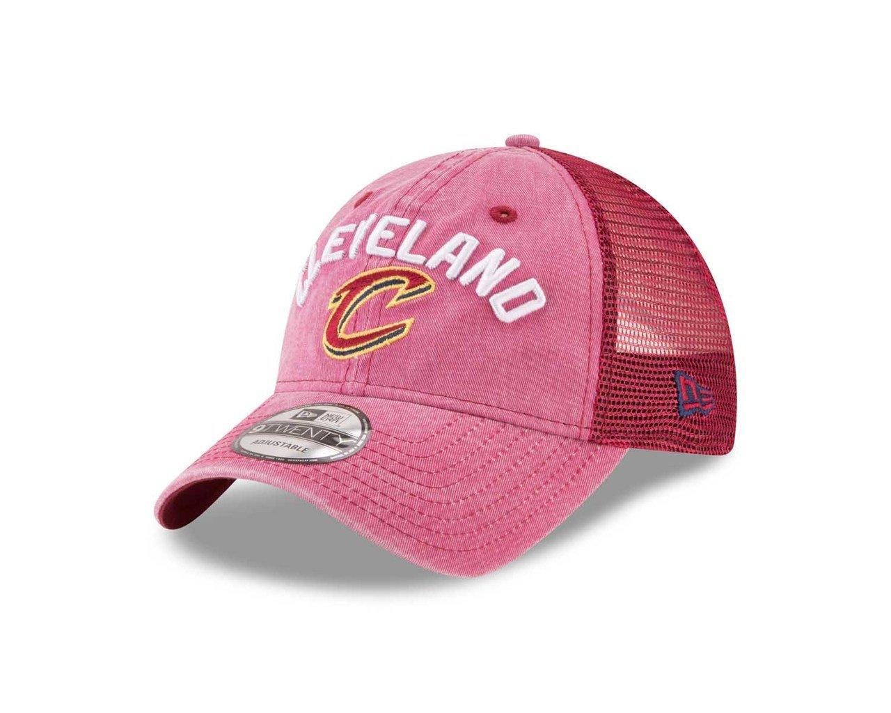 19fbcfcb8d0 Amazon.com   New Era Cleveland Cavaliers Adult NBA Rugged Adjustable Trucker  Hat - Team Color