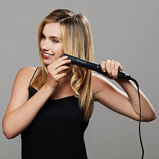 Revlon Straightening and Curling Ceramic Flat Iron, 1 Inch