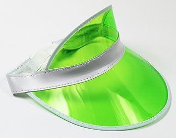 3de05080 Neon Green Sun Visor Hat Headband Fancy Dress Sport Pub Golf Tennis Hen  Stag Do