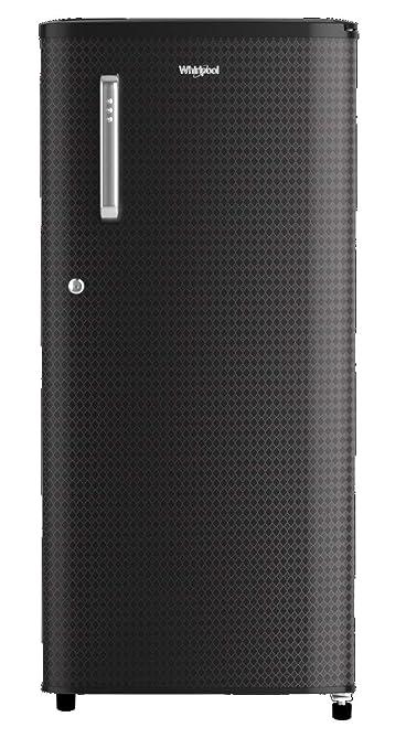 Whirlpool 190 L 2 Star Direct Cool Single Door Refrigerator  WDE 205 CLS PLUS 2S, Argyle Black