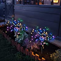 Solar Garden Lights Solar Firework Lights Solar Powered String Light with 2 Lighting Modes Twinkling and Steady-ON for…