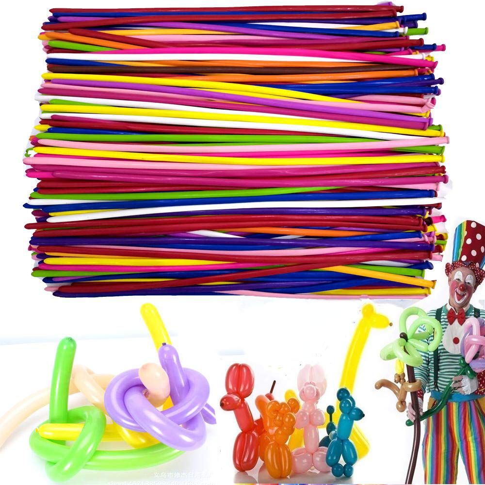 Y wang Magic Balloons Kits, 300Pack Animal Balloons Latex Modeling Twisting Balloons Long Balloons for Animal Shape Party, Clowns, Wedding Decoration(with Pump& Eye Sticker&Wiggle Eyes) by Y wang (Image #4)