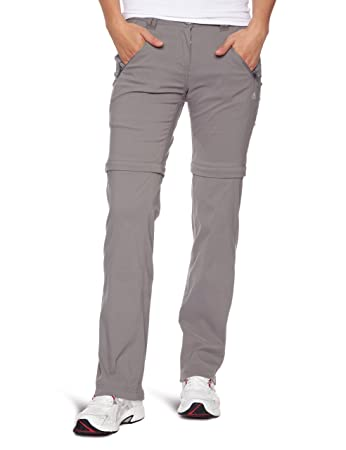 Craghoppers Women's Kiwi Pro Stretch Zip Off Convertible Walking Trousers,  Platinum, Size 20 Small