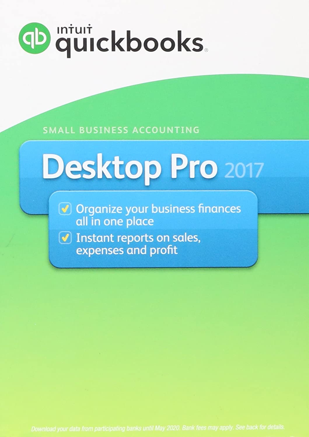 Intuit QuickBooks Desktop Pro 2017 Small Business Accounting Software [Old Version]