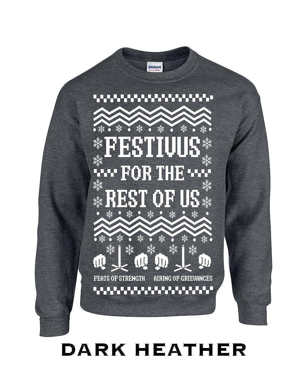 Swaffy Tees Festivus for The Rest of Us Adult Crew Sweatshirt