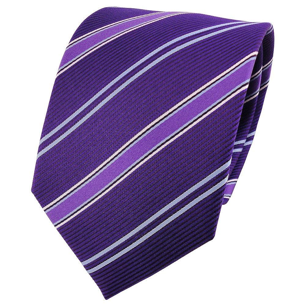 TigerTie diseñador corbata de seda - morado violeta lila azul ...