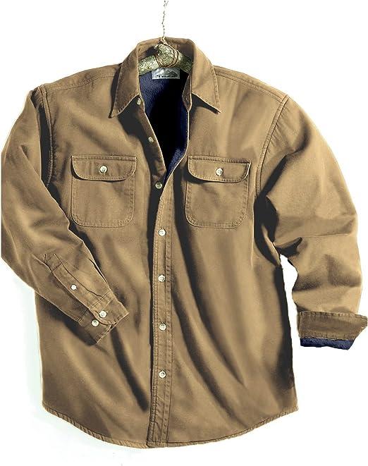 TRMメンズコットンTahoe Stonewashedフリースデニムシャツジャケット( 10色、XS - 6X LT )