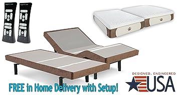split king 12inch coolbreeze gel memory foam mattress with scape performance