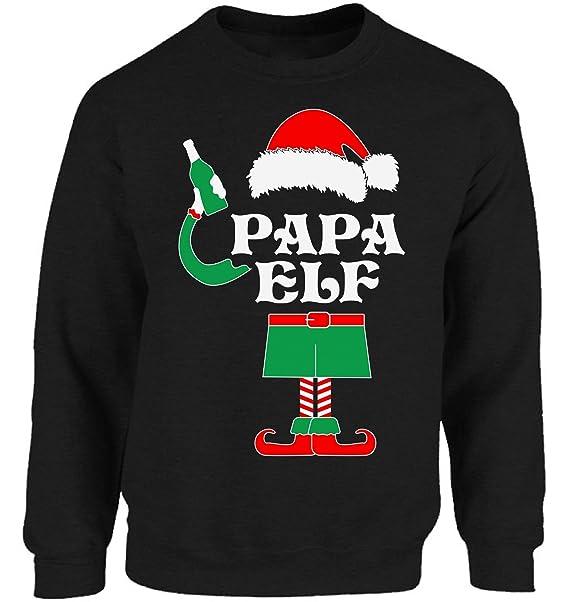 Amazon.com: Vizor Papa Elf sudadera navidad Papa Elf Costume ...
