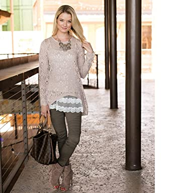 c7e1e7d58ae73 Grace and Lace Tieback Sweater for Women (Blush) at Amazon Women's ...