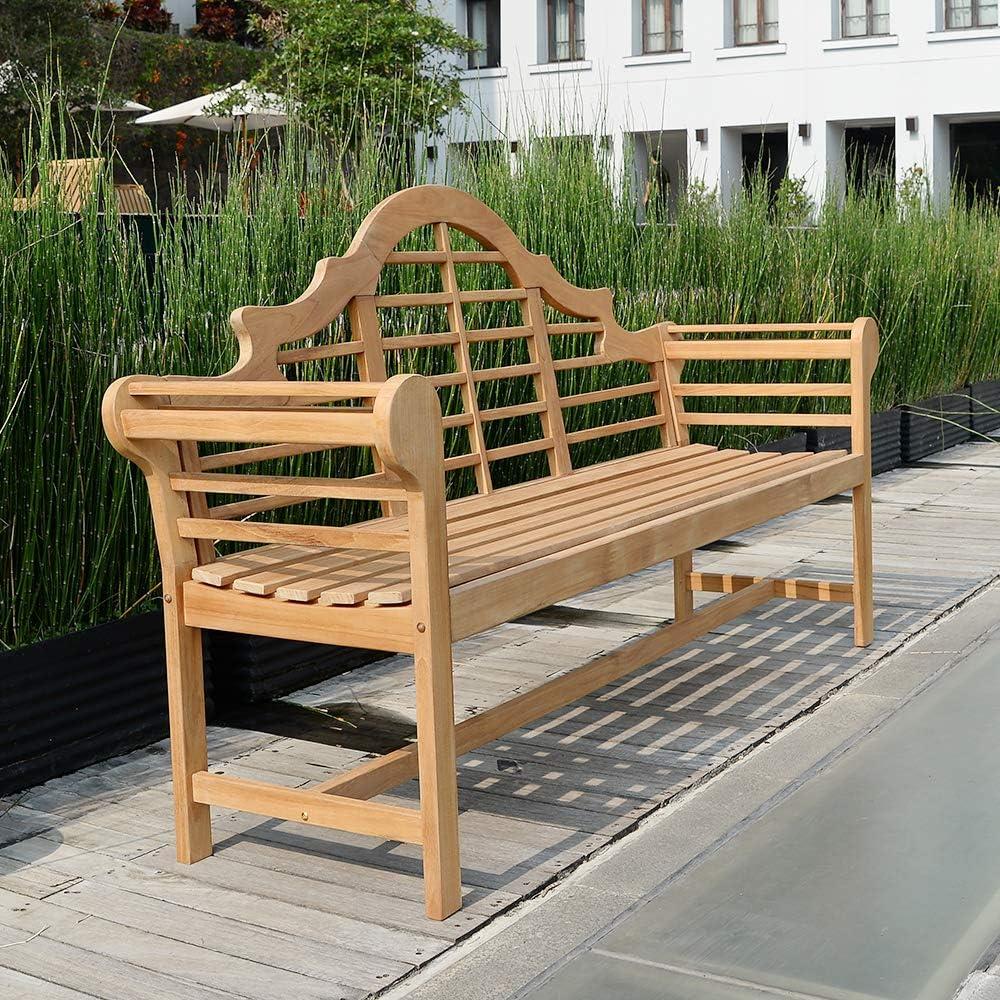 Cambridge-Casual AMZ-150051T Lutyen s 5 Garden Bench, 5-Foot, Natural Teak