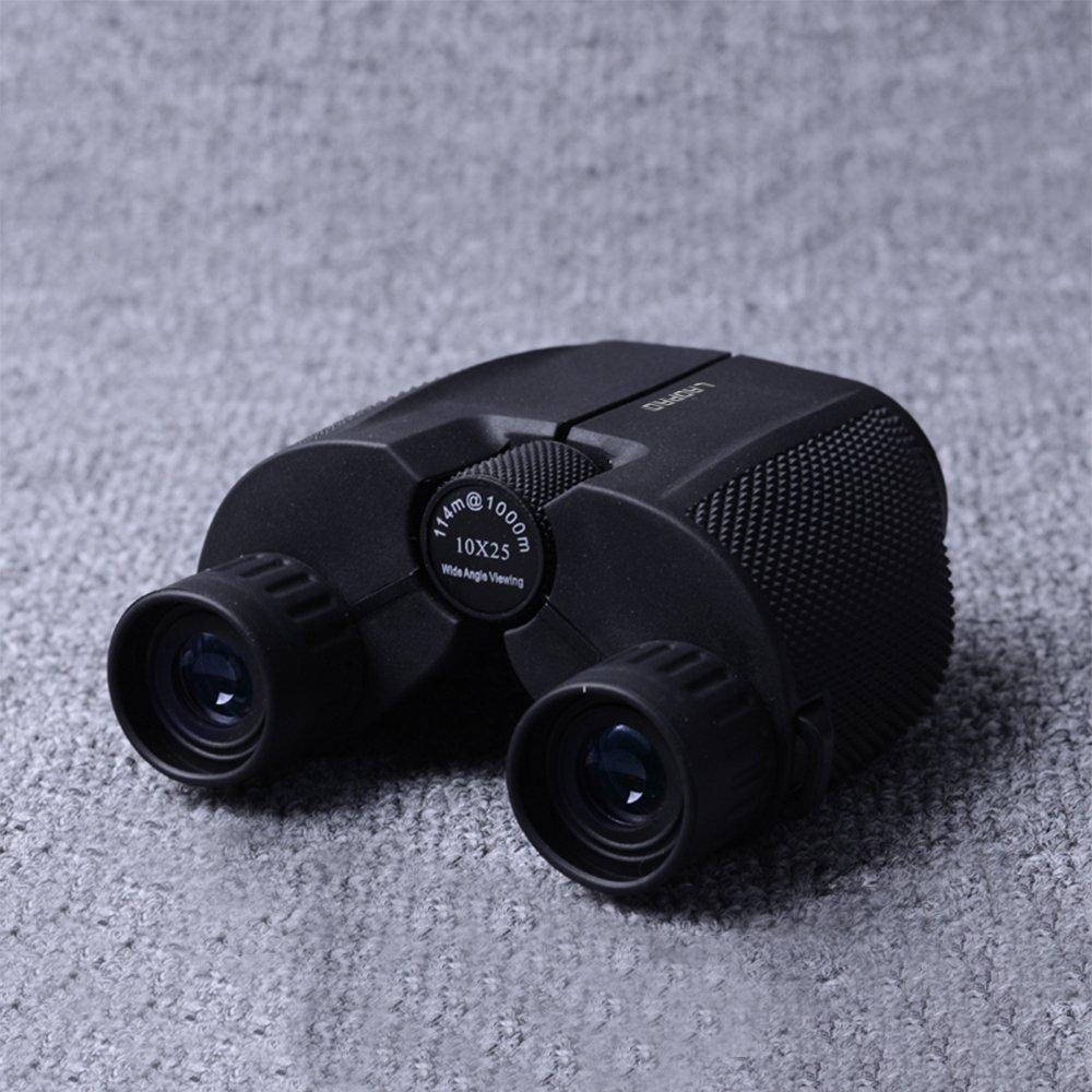laopao望遠鏡双眼鏡ブラック大人子供防水Fogproofライトと耐久性HD Bird WatchingコンサートSmall双眼鏡10 x 25 B076GYMHBZ