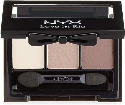 NYX Cosmetics Love in Rio Paleta de sombra de ojos de 3 paneles, descalzo en la arena: Amazon.es: Belleza