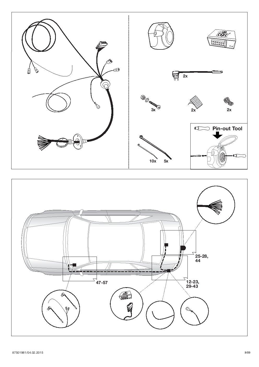 Umbra Chevrolet Cruze fliess Trasero 5türer 2011 + Remolque Desmontable con 13P Índice Fischer S Juego de ut280 C or59zcm/ws21500567de3: Amazon.es: Coche y ...