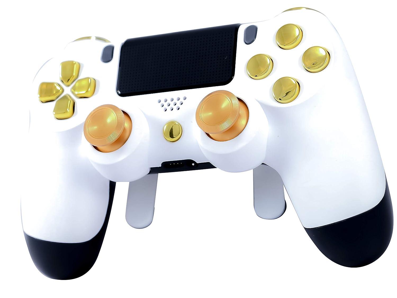 Amazon com: PS4 Elite Controller Soft Touch White/Gold