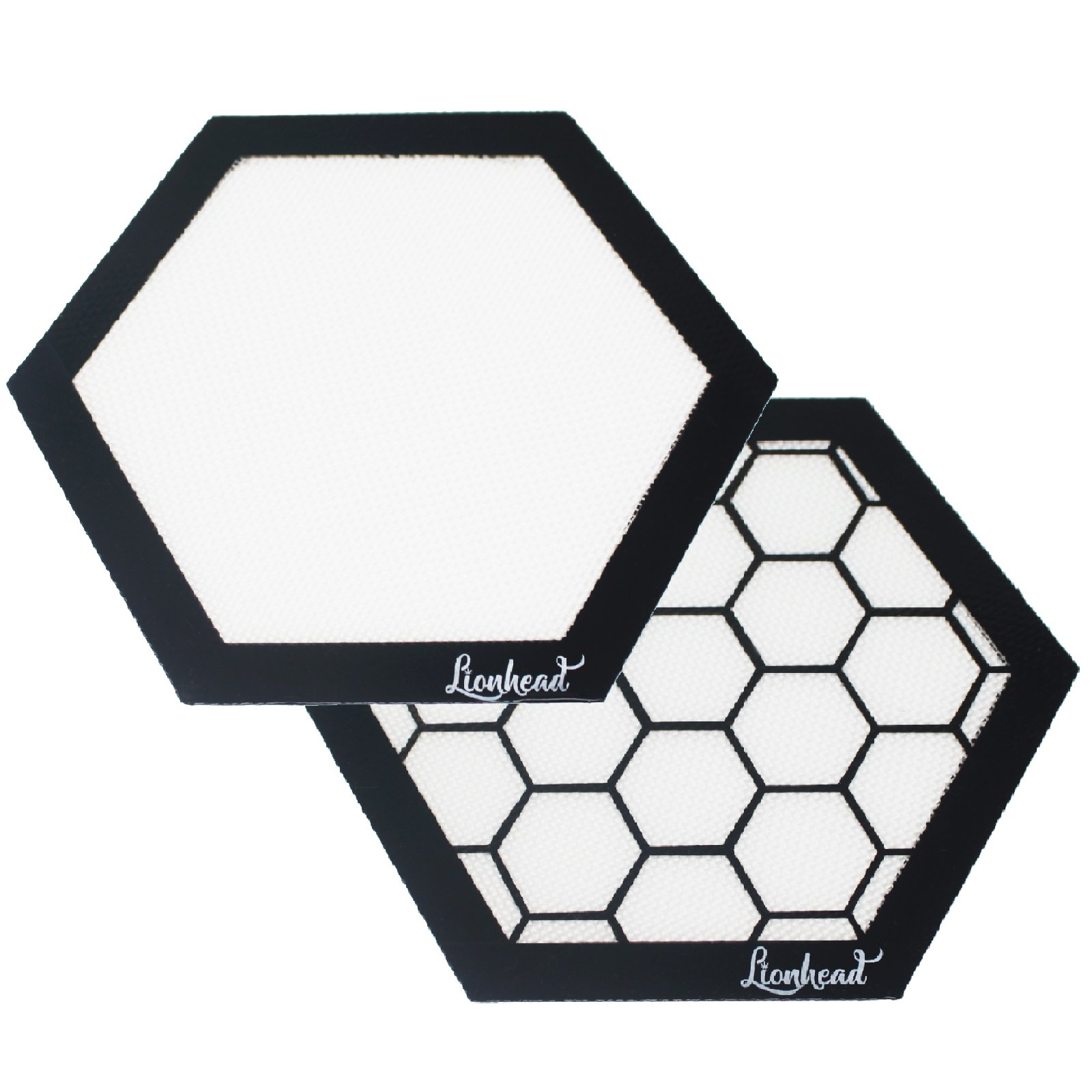 Silicone Dab Mats - (2) 8'' Hexagon Mats - Lionhead