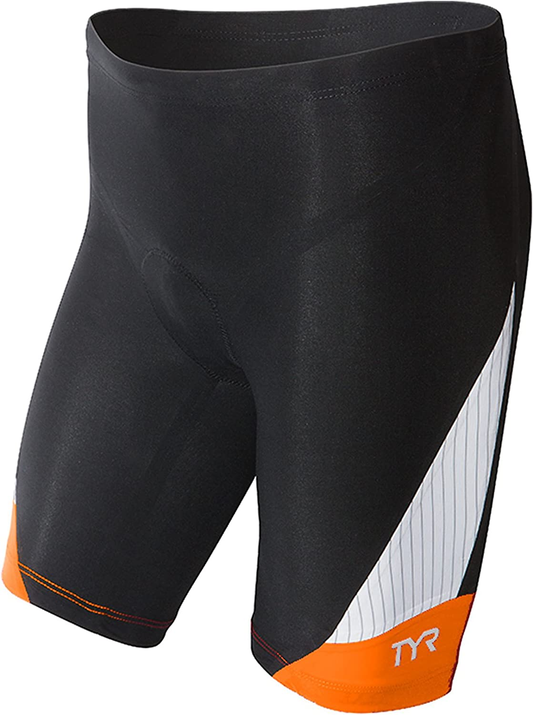 TYR Sport Mens Sport Carbon 9-Inch Tri Compression Shorts
