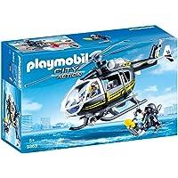 PLAYMOBIL- Helicóptero de Las Fuerzas Especiales Juguete, Multicolor