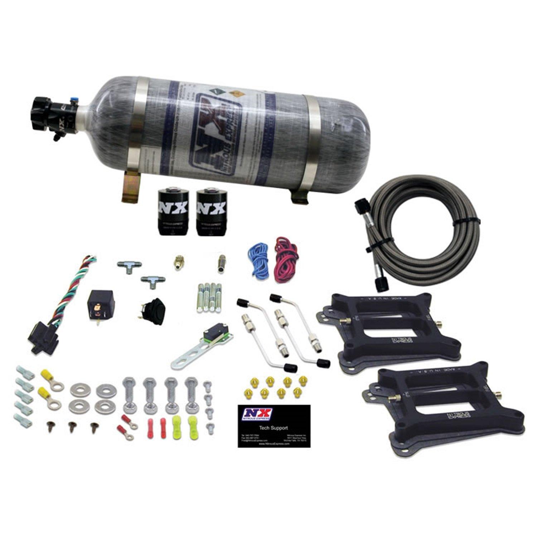 Pro Braking PBF7007-CAR-SIL Front Braided Brake Line Carbolook Hose /& Stainless Banjos