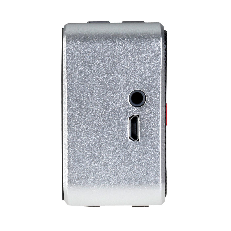 Raikko POCKET Beat 2 0 Bluetooth Stereo mobiler mini aktiv Lautsprecher inkl Akku 2x 3 Watt micro USB Line IN silber Amazon Audio & HiFi