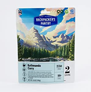 Backpacker's Pantry Kathmandu Curry, 2 Servings Per Pouch, Freeze Dried Food, 16 Grams of Protein, Vegan, Gluten Free