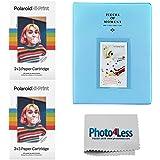 Polaroid Hi-Print 2X3 Paper Cartridge 20 Sheets -2 Pack + Album Holds 128 Photos