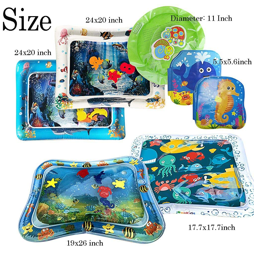 Inflatable Baby Pad Set 7pcs, Inflatable Playmat Inflatable Water Play Mat for Children and Infant by Sunshinehomely (Image #2)