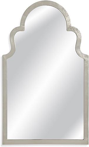 Bassett Mirror M3750EC Mina Wall Mirror, Silver