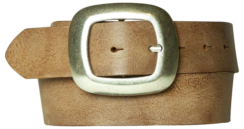 FRONHOFER belt organic leather expressive designer buckle summer color 17275, Size:waist size 29.5 IN S EU 75 cm, Color:Nude