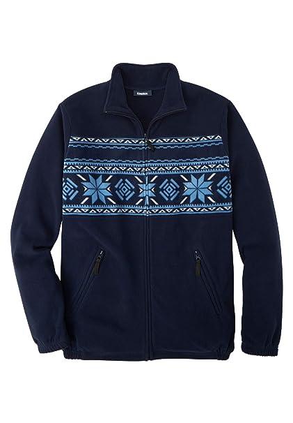 4f4b38a1a KingSize Men's Big & Tall Full-Zip Fleece Jacket at Amazon Men's ...