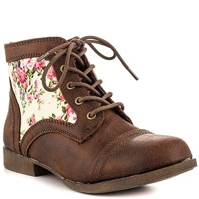 2c1a9e2d9d7 Amazon.com   JustFab Florelle - Brown   Ankle & Bootie