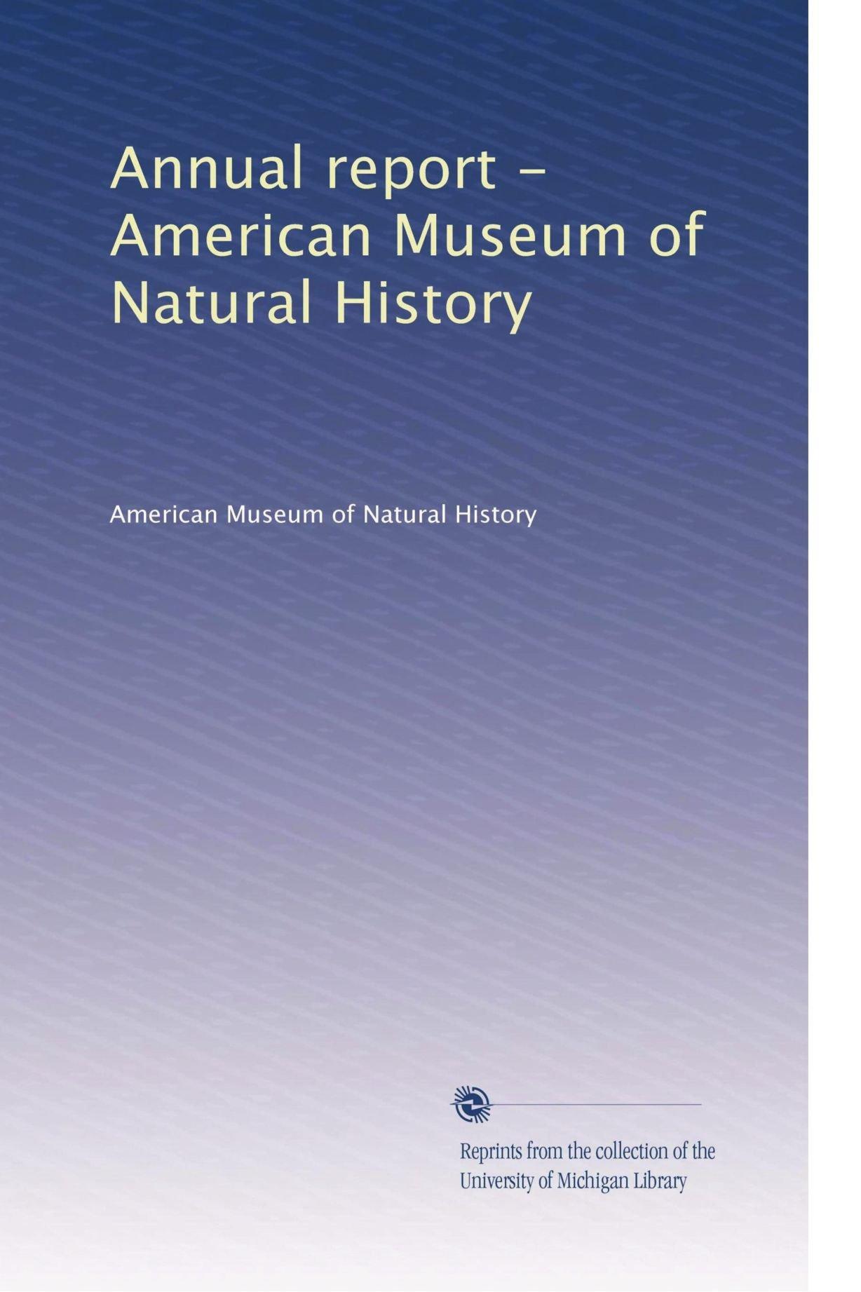 Annual report - American Museum of Natural History (Volume 5) PDF
