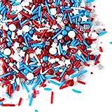 Sprinkles - Sprinklefetti - Patriotic Sprinkles - 4th of July - Gluten-Free Red, White and Blue Sprinkles for Baking - Cupcak