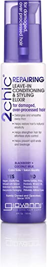 Giovanni Blackberry & Coconut Leave In Conditioner - 2chic Ultra-Repairing Daily Formula For Dry & Damaged Hair, 4 Ounce (Pack of 1)