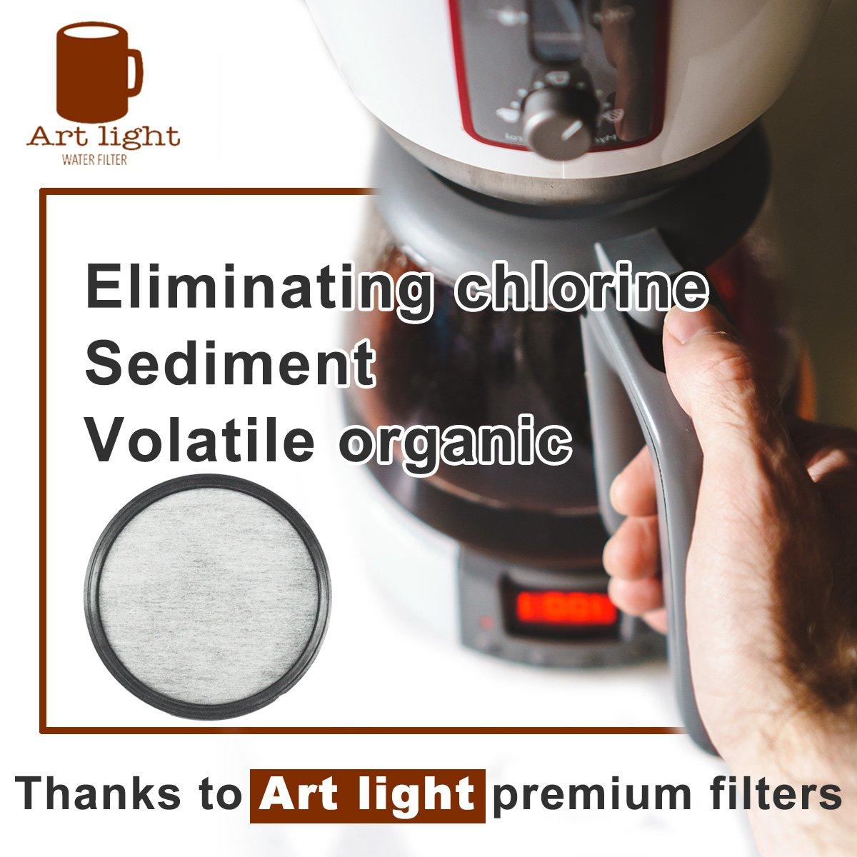 Filtros de agua de repuesto para filtro de agua de café MR. Filtros de agua compatibles - 24 filtros de agua de carbón universal para máquinas de café MR.