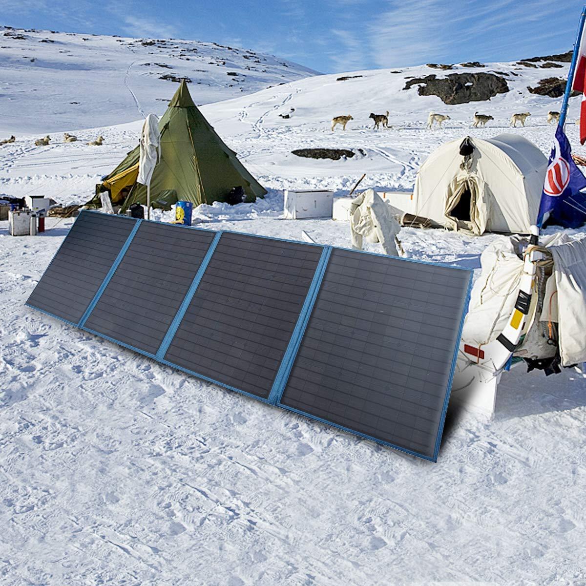 Betop-camp Panneau Solaire se Pliant Portatif de 200W 12V avec un Contr/ôleur de Charge Solaire de 15A pour le Campeur Rallyes de Camping-car Syst/ème 12V de Bureaux Mobiles