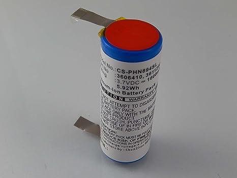 vhbw Batería Li-Ion 1600mAh (3.7V) para afeitadora Philips Norelco HQ9140, HQ9160, HQ9170, HQ9190CC como 3611290, 15038, 3606410.: Amazon.es: Salud y cuidado personal