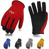 Vgo Glove 5 Paare Arbeitshandschuhe, Palmen aus Kunstleder, für leichte Garten- und Arbeitshandschuhe (in verschieden Farben, Gr. 7-10, AL8736)(9/L)
