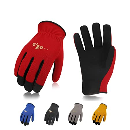 Vgo Glove 5 Pairs Pack Artificial Leather Work Gloves, Gardening And Light  Duty Work Gloves