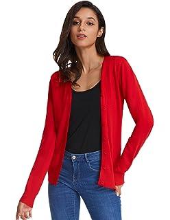 7db63faaaf GRACE KARIN Strickjacke Damen Cardigan Langarm Outwear CL16: Amazon ...
