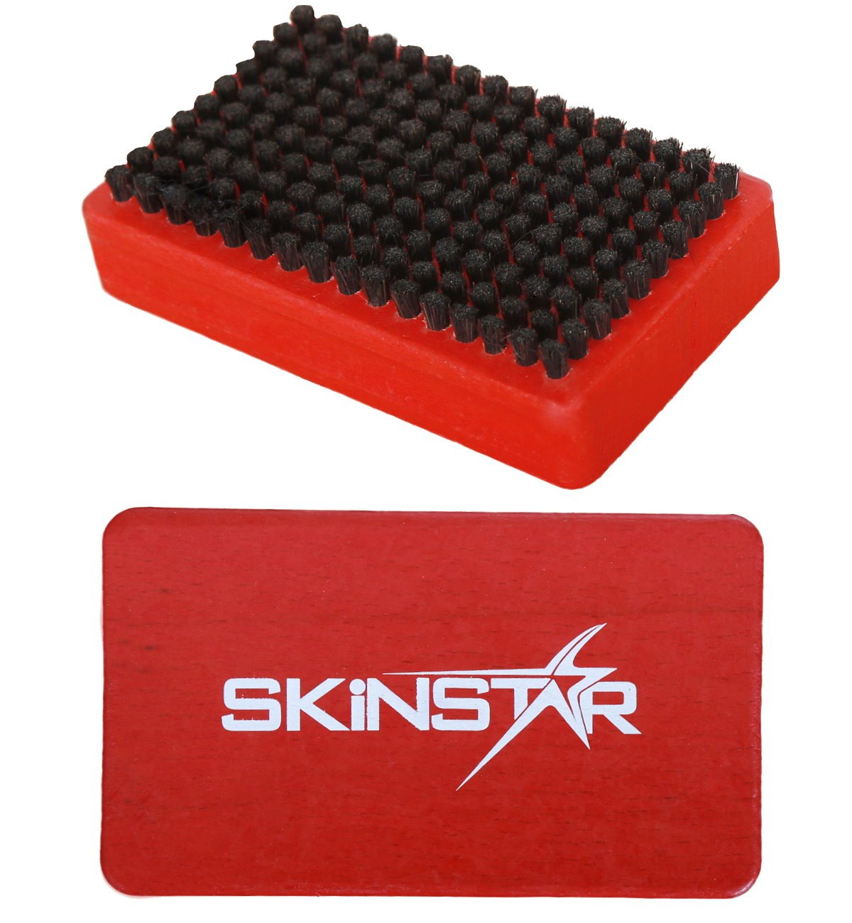 Kufper//Bronze rot Rooshaar u SkinStar 3er Set Ski Belagsbürsten BaseBrush Nylon