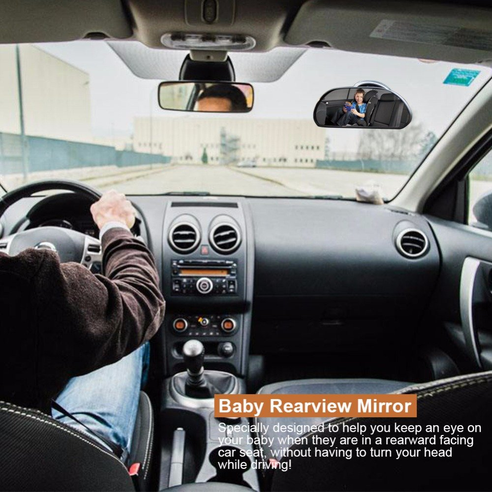 Baby Car Mirror Suction Cup, Rearview Baby Mirror,Baby Backseat Mirror for Car,Easily to Observe The Baby\'s Every Move, Safety and Wide Angle 360 Degree Rotatable