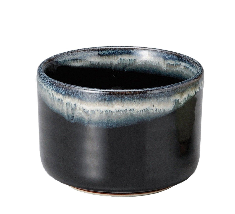 Yamakiikai Japanese Tea cup Matcha Bowl dark blue and white line pattern M1702 From Japan