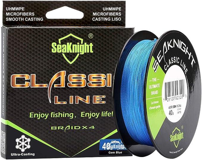 SeaKnight - Sedal con trenzado mejorado y más duradero, 300 m, de 2,7 a 36,3 kg, sedal fino súper trenzado, más fuerte y más suave: Amazon.es: Deportes y aire libre
