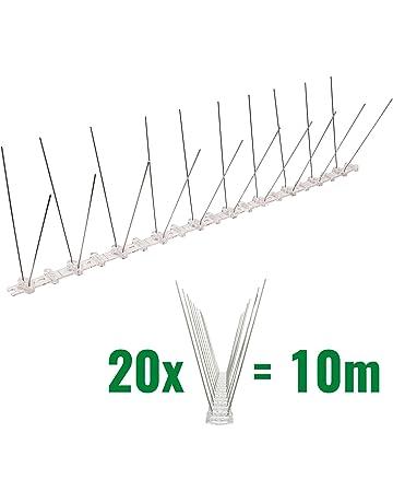 10 metros de Púas antipalomas con base de Policarbonato - 2-hilera de Púas antipalomas