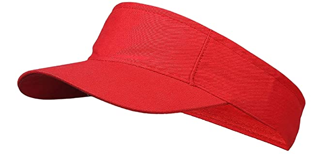 17d18d4667a742 Image Unavailable. Image not available for. Colour: Magic Attitude Women's Tennis  Visor Sunshade Cap Red