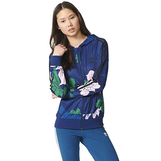 7ebe603dc23b adidas Originals Women s Floral Print Light Hoody - Multi - 22UK ...
