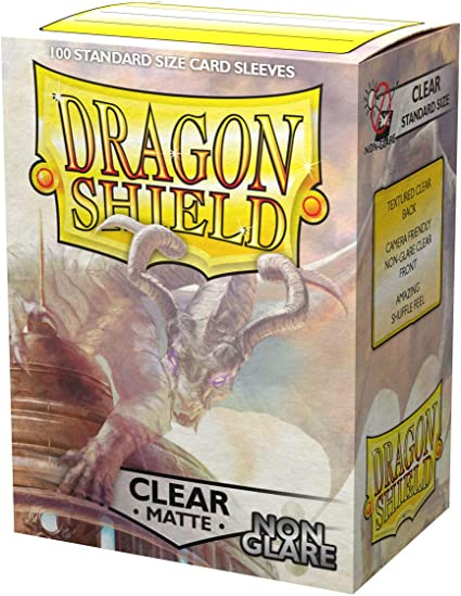 Dragon Shield Deck Protector Sleeves CLEAR 100ct Standard Size MTG BRAND NEW!!
