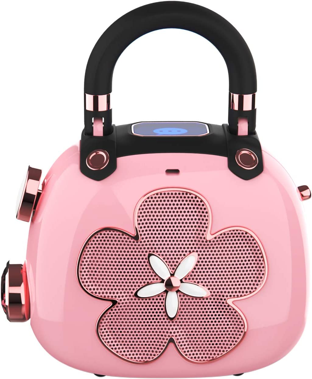 DOSS Candy Mini Portable Bluetooth Speaker with Clean Sound, Built-in Mic, Ultra-Portable Design, Wireless Speaker Compatible for Home, Outdoors, Travel, Gift Ideas-Pink